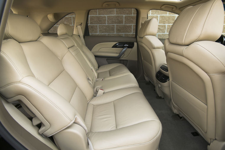 2009 acura mdx rear seats picture pic image. Black Bedroom Furniture Sets. Home Design Ideas