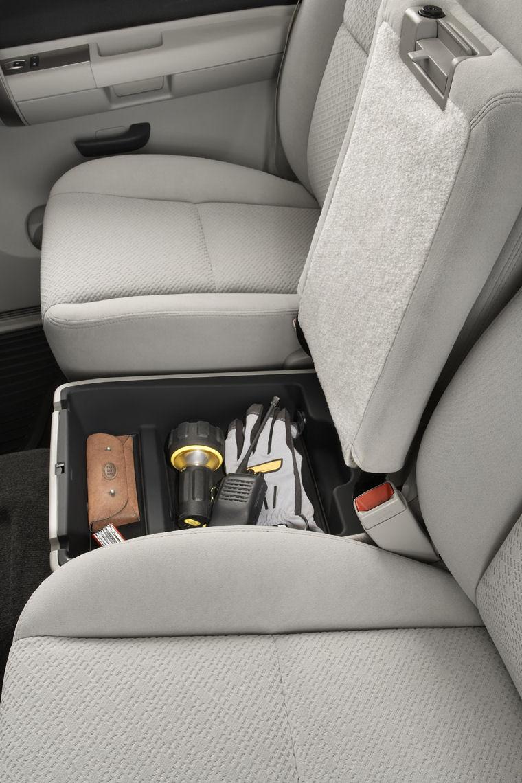 2010 Chevrolet Silverado 1500 Crew Cab Rear Seat Storage