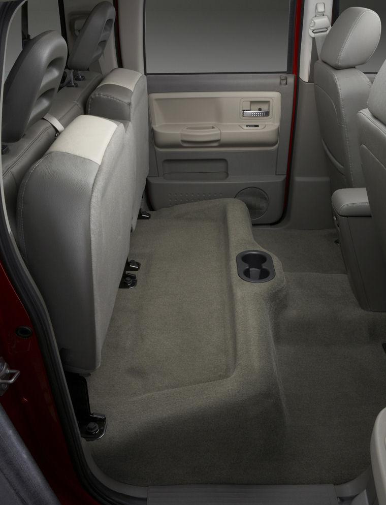 2008 Dodge Dakota Crew Cab Laramie Rear Seats Picture