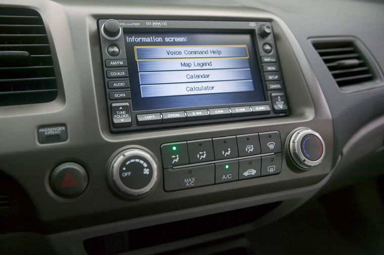 2008 Honda Civic Coupe Dashboard Screen Picture