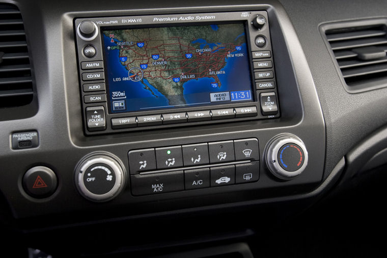 2009 Honda Civic Si Sedan Navigation Screen Picture Pic Image