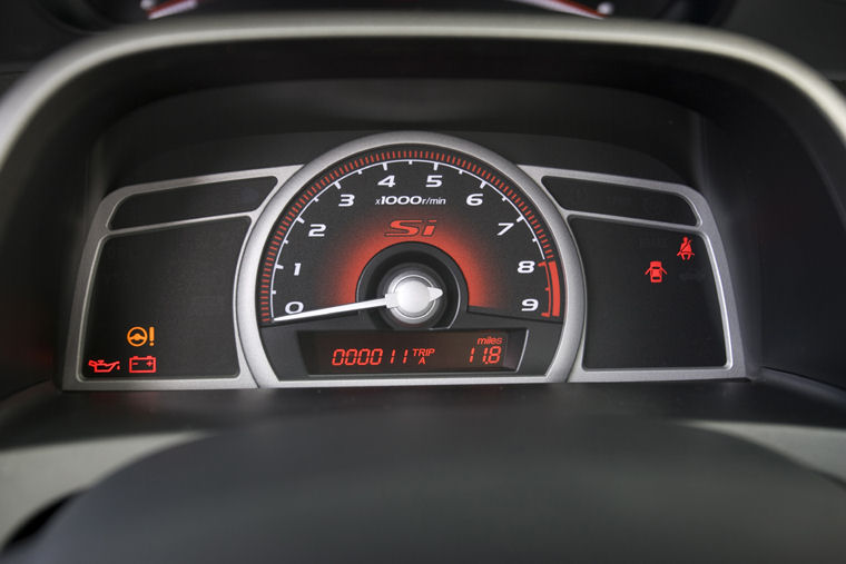 2010 Honda Civic Si Sedan Gauges Picture Pic Image