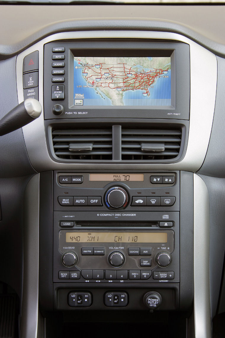 2006 Honda Pilot Center Dashboard Picture Pic Image