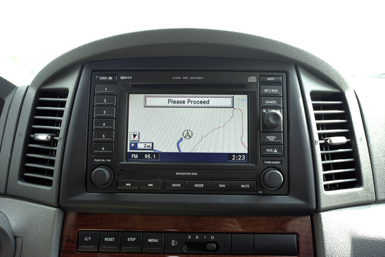 2005 Jeep Grand Cherokee Navigation Screen Picture Pic