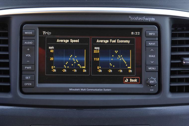 2008 Mitsubishi Lancer GTS Dash Screen  Picture  Pic  Image