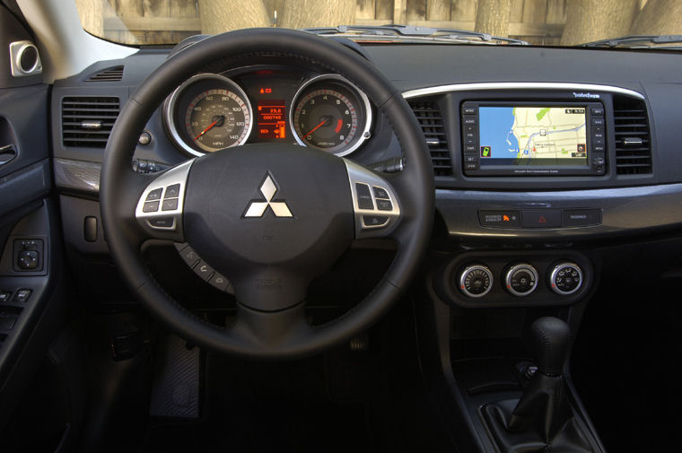 Lovely 2009 Mitsubishi Lancer GTS Cockpit Picture