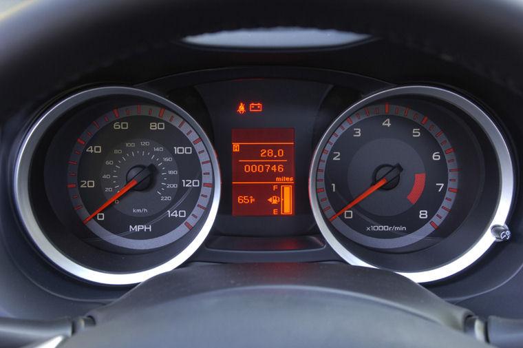 2009 Mitsubishi Lancer GTS Gauges Picture