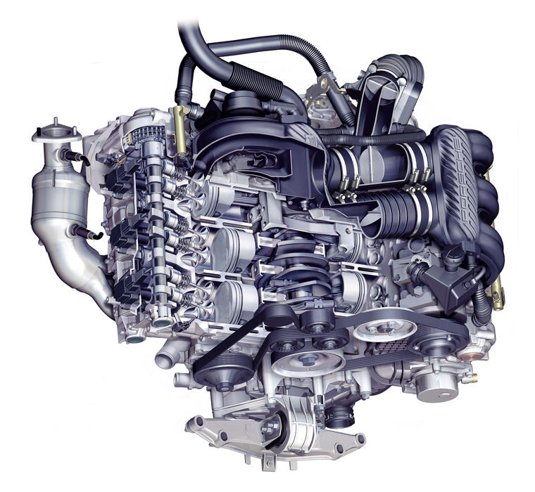 2008 Porsche 911 Flat 6 Engine Picture Pic Image