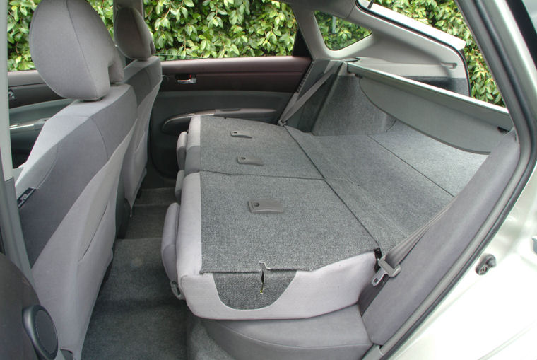 2004 Toyota Prius Rear Seats Folded Picture