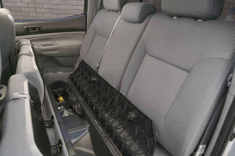 2005 Toyota Tacoma Double Cab Rear Seat Storage Picture