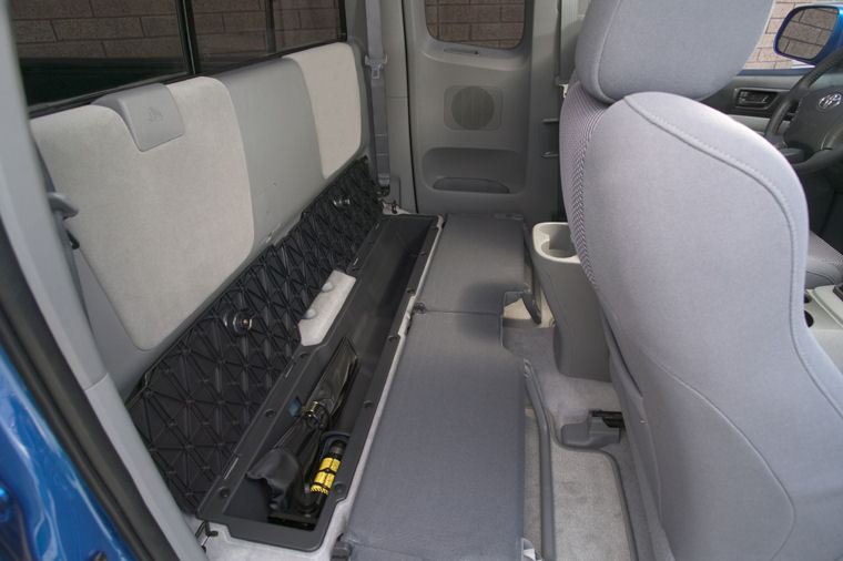 Tacoma Back Pages >> 2008 Toyota Tacoma PreRunner Access Cab Rear Seat Storage - Picture / Pic / Image