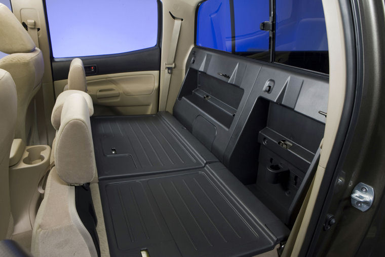 2009 Toyota Tacoma Double Cab Rear Seats Folded Picture