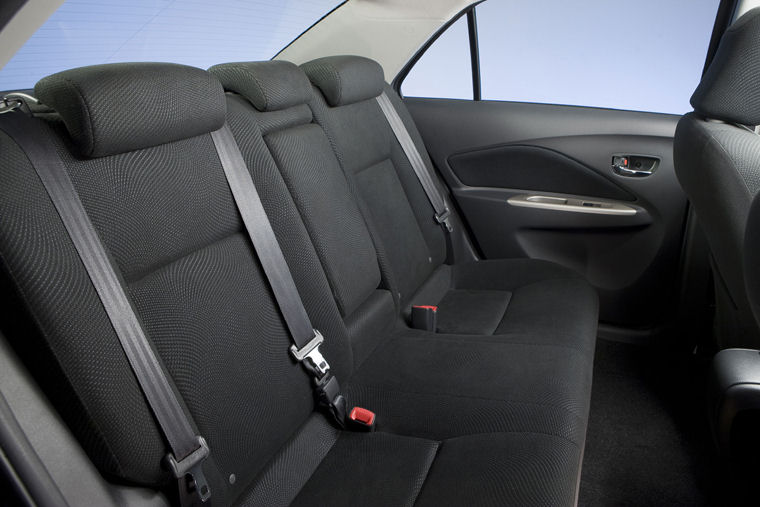 2010 Toyota Yaris Sedan Rear Seats Picture Pic Image